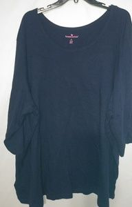 Woman Within Navy Scoop Neck T-shirt 4X Plus